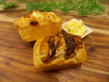 Fig & Goats Cheese Loaf with butter