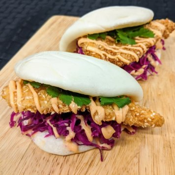 Panko Chicken Bao Buns